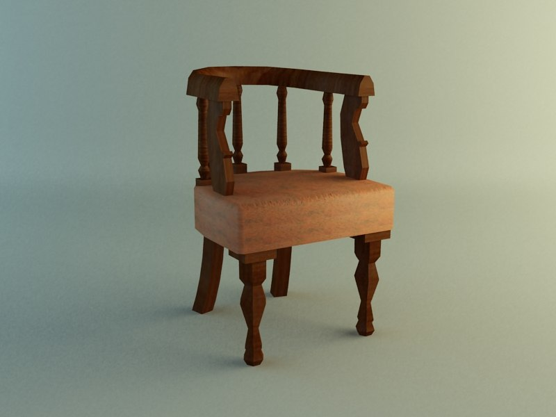 3d chair georgian