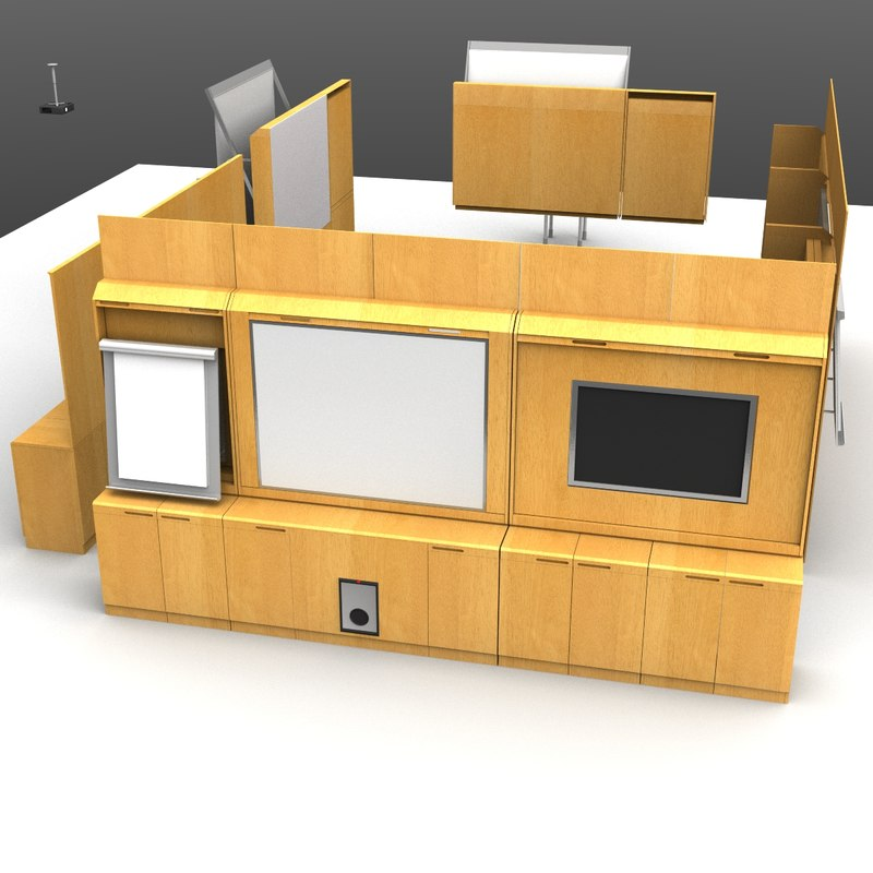 conference modules 3d model