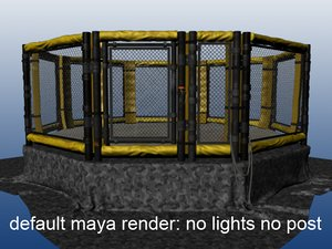 cage fight 3d model