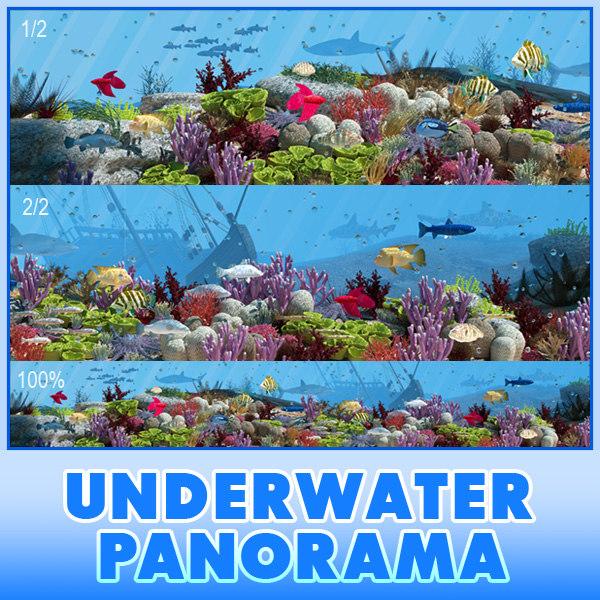 3d panorama underwater