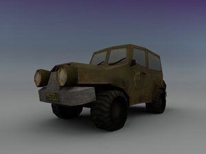 3d funny jeep model