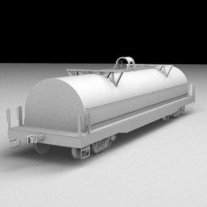3d railroad coil car model