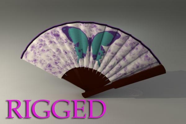 3d oriental fan