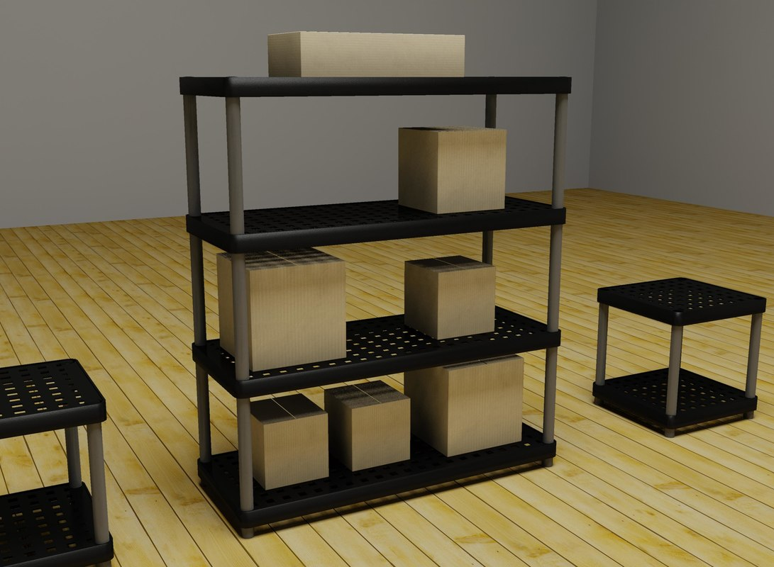 3d plastic shelves