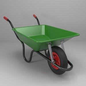 wheelbarrow barrow obj