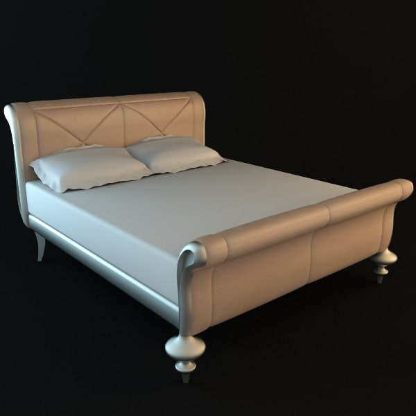 3ds max bed for 3ds max bed model