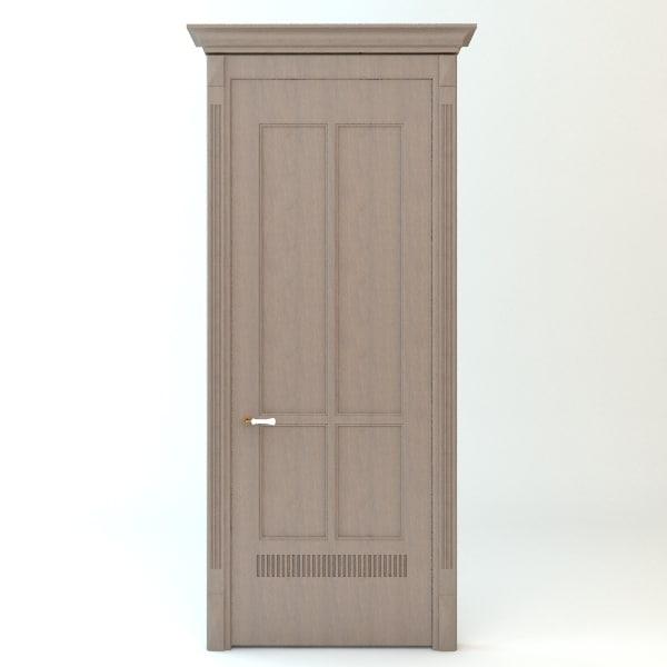 3ds max door wood wooden
