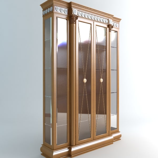display case vitrine 3d fbx