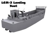 3d model of lcm-3 landing boat
