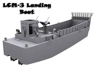 3d model of lcm-3 landing boat