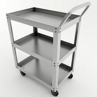 metal cart 3d model