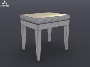 3d obj arundel stool