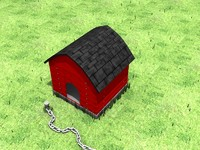 3ds max dog house