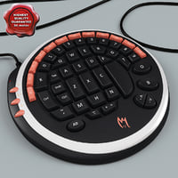 3d model gamer keyboard zykon k1