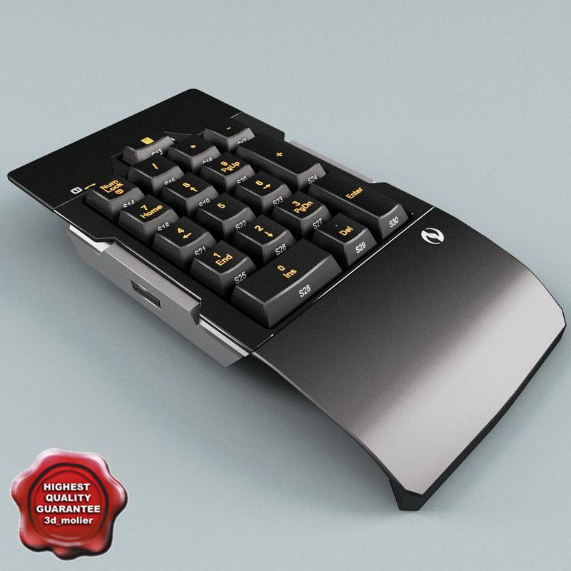 3d numeric keypad model