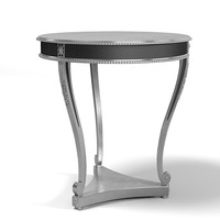 Royal life luxury end side table round art deco glamour silver low key classic