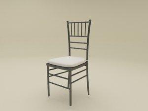 3d max chiavari chair