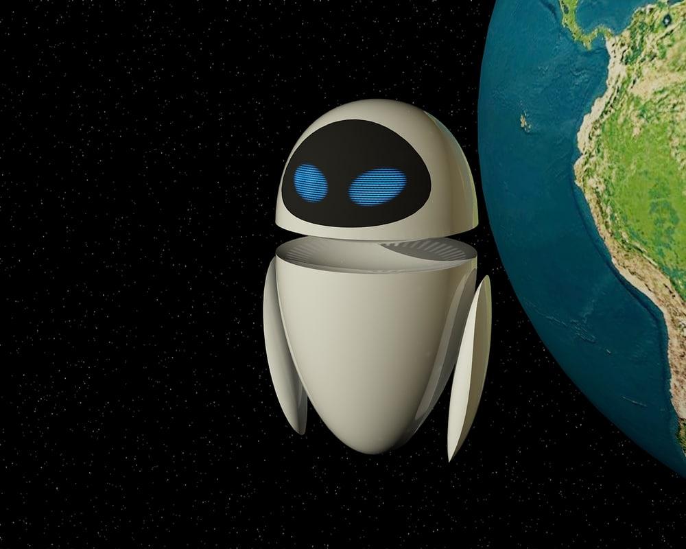 3ds robot eve cartoon wall-e