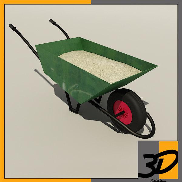 wheelbarrow sand 3d model