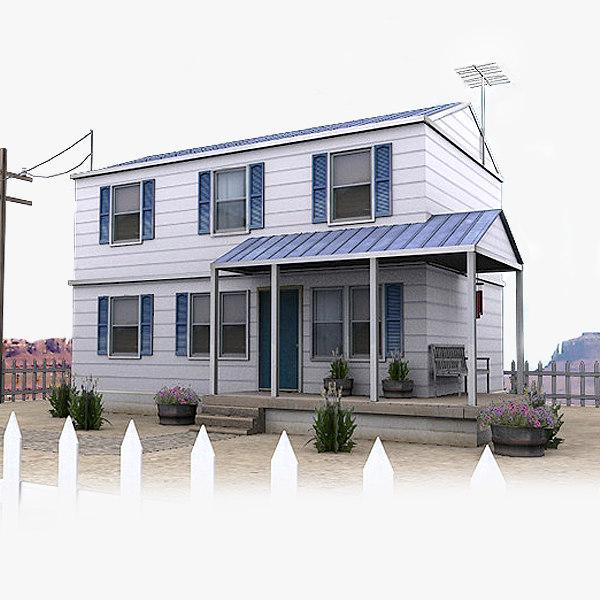 3d usa town house 002