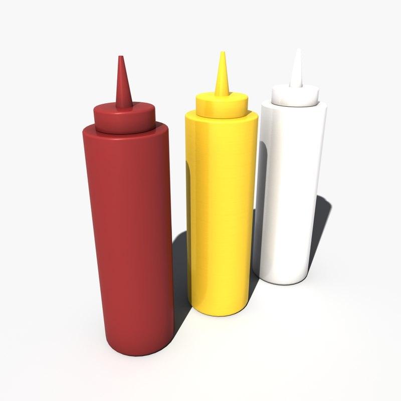 3d condiment squeeze model