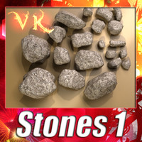 Stones 01 + High resolution textures