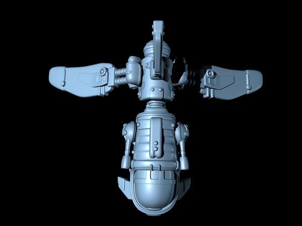 shuttle fighter spaceship obj