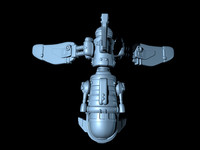 shuttle fighter spaceship obj