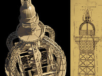 3d obj eiffel tower