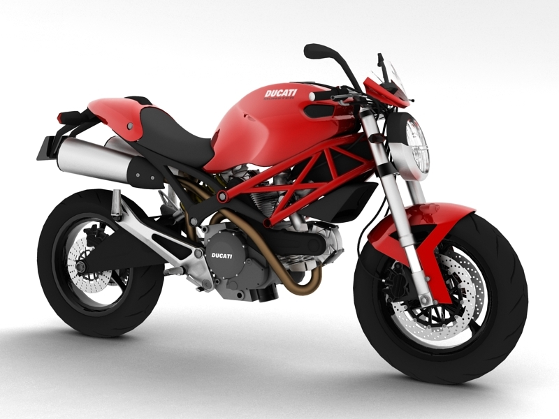 ducati monster 796 2011 3d 3ds
