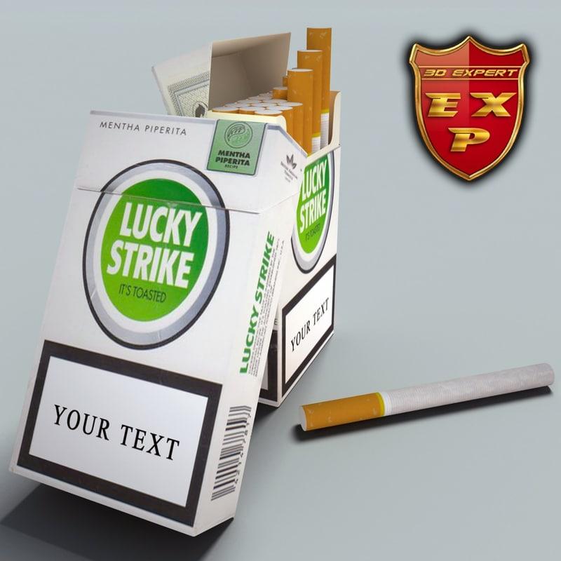 lucky strike pack 3d model