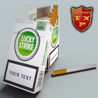 lucky strike pack 3d model