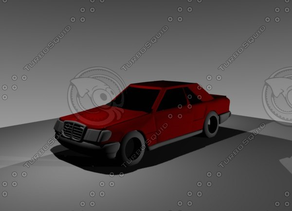 free coupe mercedes benz 3d model