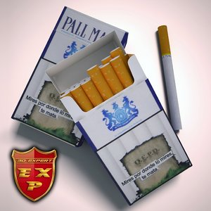 3d pall mall pack cigarettes