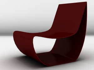 3d model of sign couch