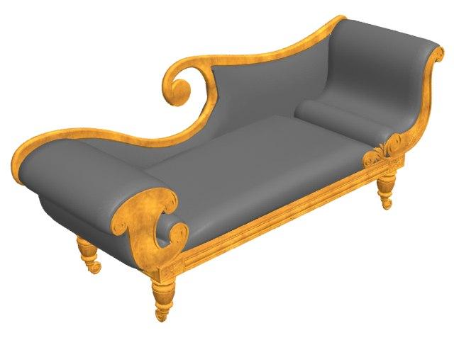 antique sofa 3d 3ds