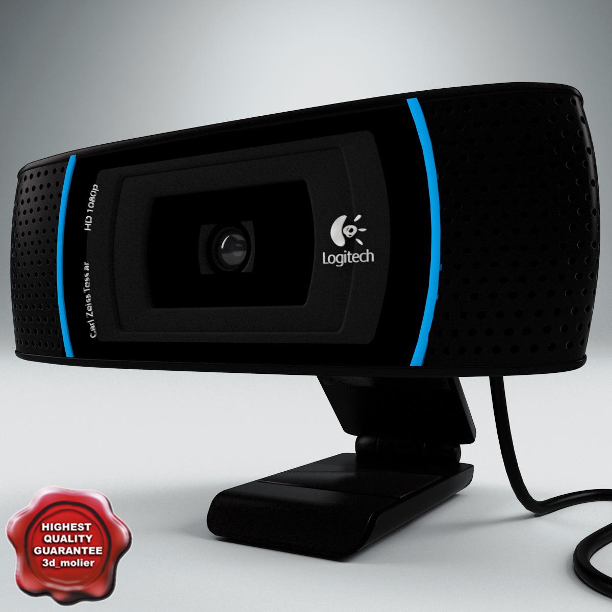 3ds max webcam logitech c910