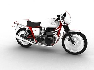 3d triumph thruxton 2011 model