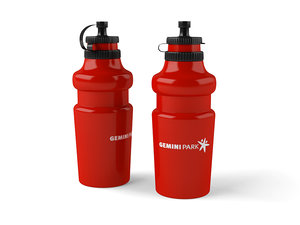 3d model bicycle water bottle