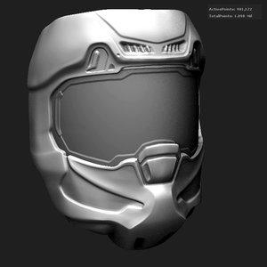 zbrush helmet 3d 3ds
