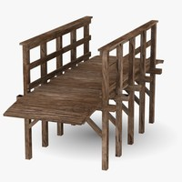 3ds max wooden bridge