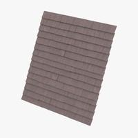 3d roof tiles model