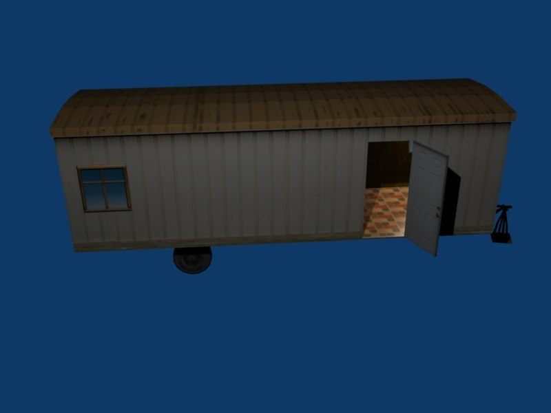 construction office trailer 3d 3ds
