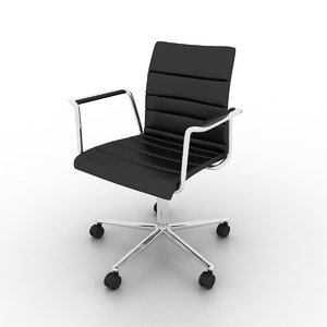 lina soft swivel chair 3d model