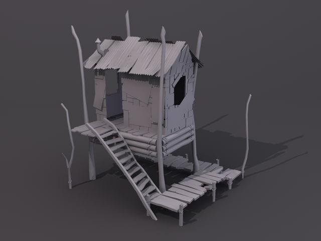 house shack 3d model