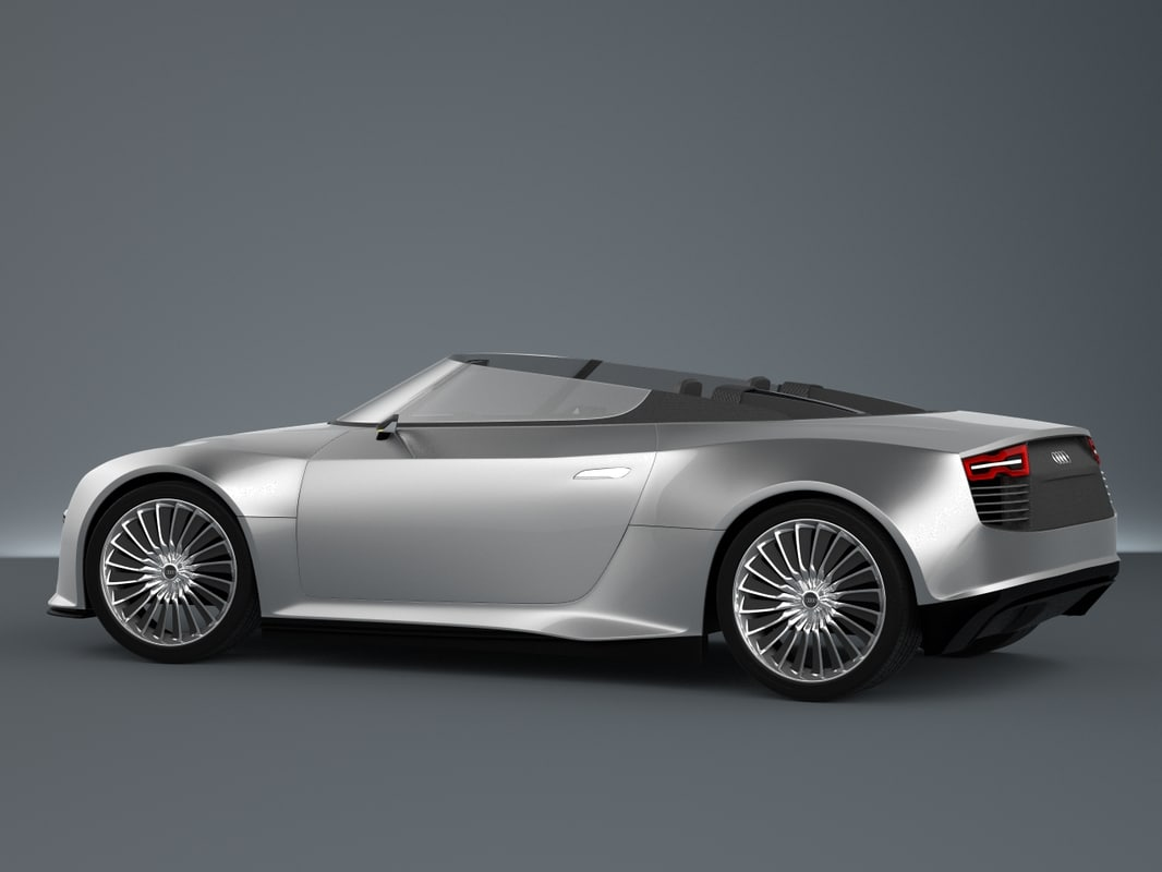 3ds max audi e-tron spyder sports