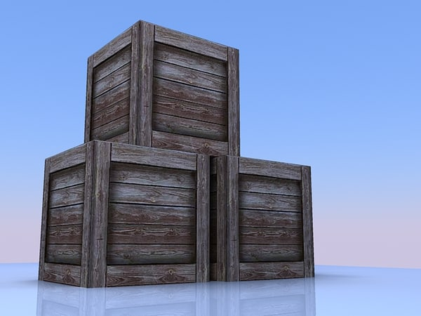 wood crate 3ds free