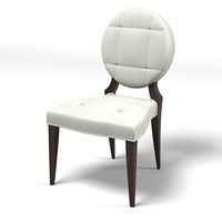 Christopher guy 30-0021 elegant dining chair round tufted back art deco modern contempoarary buttoned