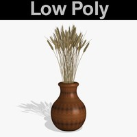3d model decorative grass pl