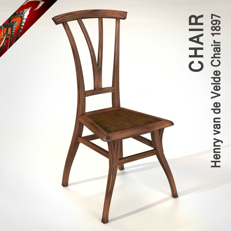 chair henry van velde 3d model